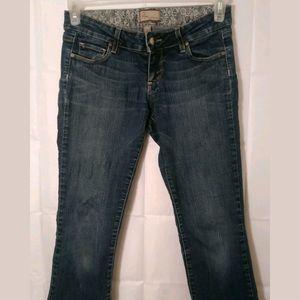 Paige jeans size 26 cropped Capri jean pant EUC